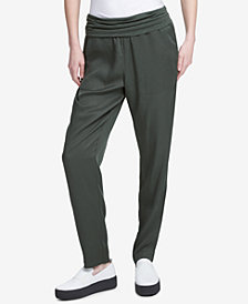 DKNY Foldover Waist Tencel Pants, Created for Macy's
