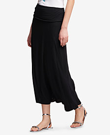 DKNY Foldover Adjustable Pull-On Maxi Skirt, Created for Macy's