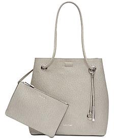 Calvin Klein Gabrianna Smooth Leather Small Tote