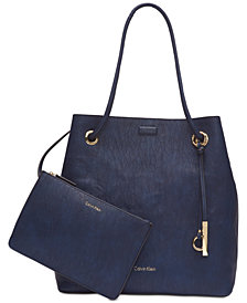 Calvin Klein Gabrianna Smooth Leather Small Tote