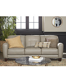 Kaleb Tufted Leather Sofa Collection Created For Macy S
