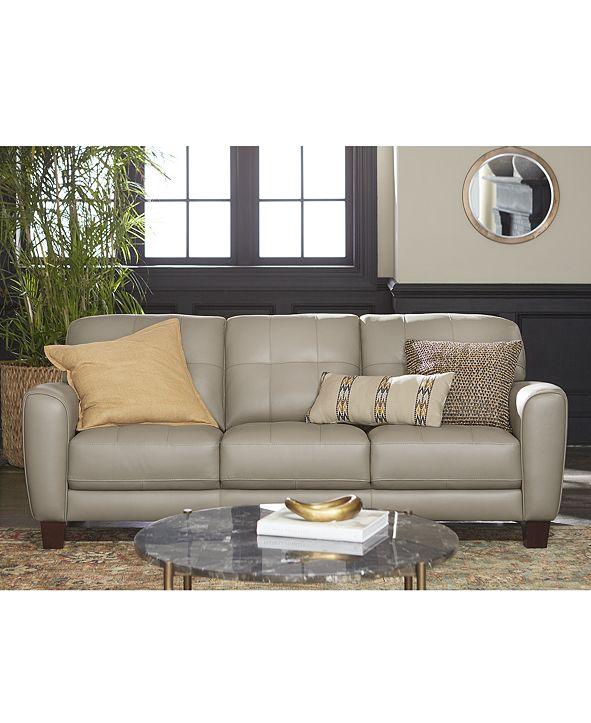 furniture kaleb tufted leather sofa collection created