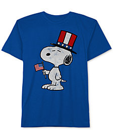 Peanuts Little Boys Snoopy-Print Cotton T-Shirt