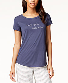 Jenni by Jennifer Moore Embroidered-Graphic Pajama Top, Created for Macy's