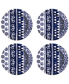 Jay Imports Old Town Blue Melamine Salad Plates, Set of 4