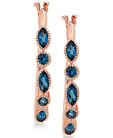 Blue Topaz Hoop Earrings (1-1/2 ct. t.w.)  in 14k Rose Gold