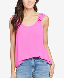 RACHEL Rachel Roy Lia Ruffled-Strap Tank Top, Created for Macy's