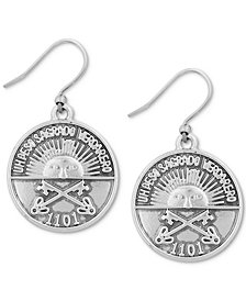 Lucky Brand Silver-Tone Coin Drop Earrings