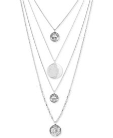 Lucky Brand Silver-Tone 4-Pc. Set Coin-Look Pendant Necklaces