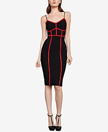 BCBGMAXAZRIA Sleeveless Contrast Fitted Dress