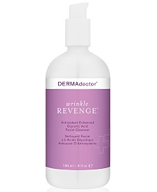 DERMAdoctor Wrinkle Revenge Antioxidant Enhanced Glycolic Acid Facial Cleanser, 6-oz.
