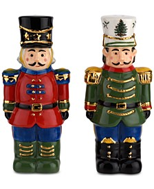 Christmas Tree Nutcracker Salt & Pepper Shaker Set