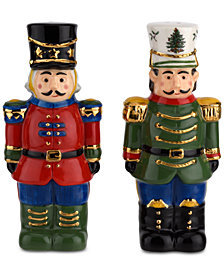 Spode Christmas Tree Nutcracker Salt & Pepper Shaker Set