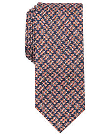 Tallia Men's Rutherford Houndstooth Slim Silk Tie