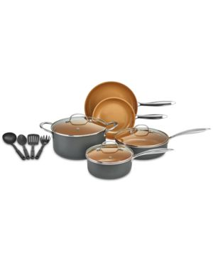 Image of Crux 12-Pc. Copper Titanium Cookware Set, Created for Macy's