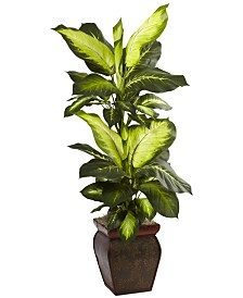 Nearly Natural Golden Dieffenbachia Artificial Plant in Decorative Planter