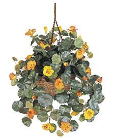 Nasturtium Artificial Plant Hanging Basket