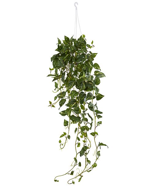 Nearly Natural Pothos Artificial Plant Hanging Basket