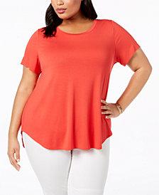 Alfani Plus Size High-Low T-Shirt