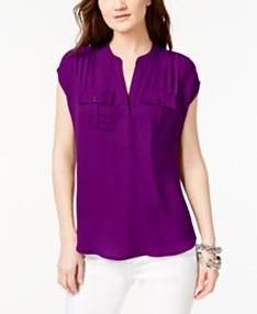 20455cf8388 Purple Blouses For Women - Macy's