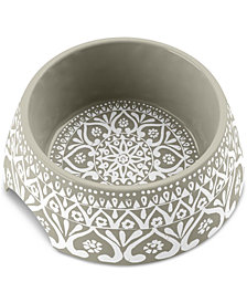 TarHong Boho Medallion Taupe Medium Pet Bowl