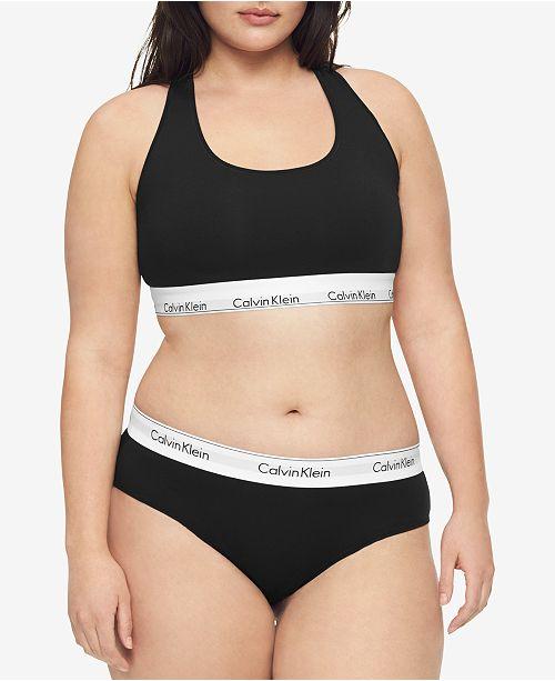 7f496b3c23 Calvin Klein Plus Size Modern Cotton Logo Hipster QF5118   Reviews ...