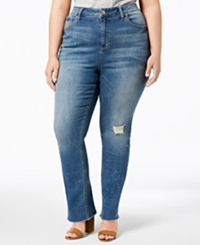 Seven7 Trendy Plus Size High-Rise Jeans
