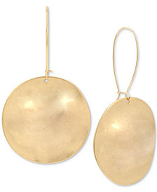 Robert Lee Morris Soho Gold-Tone Disc Drop Earrings