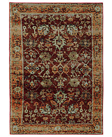 "Macy's Fine Rug Gallery Journey Viva Red 10' x 13' 2"" Area Rug"