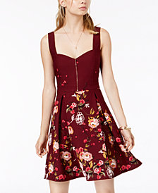 Trixxi Juniors' Sweetheart Floral-Print Dress