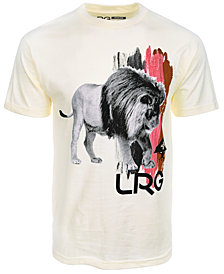 LRG Men's Brushed Lion Graphic-Print T-Shirt