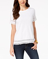 f85eab2253f Charter Club Cotton Circle-Trim T-Shirt, Created for Macy's