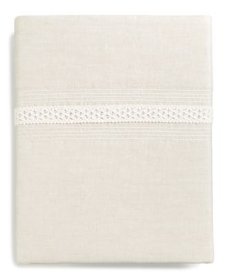 Madison Hemstitch Queen Flat Sheet, Created for Macy's