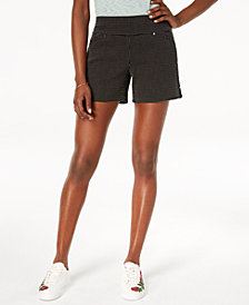 I.N.C. Dotted Pull-On Shorts, Created for Macy's