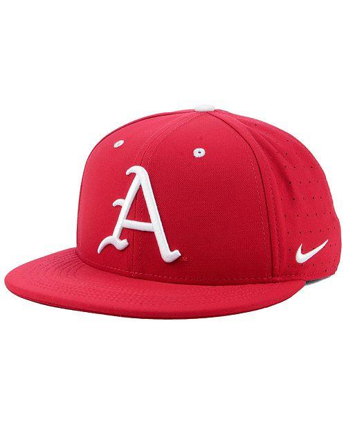 buy popular 19346 9b66c ... Nike Arkansas Razorbacks Aerobill True Fitted Baseball Cap ...