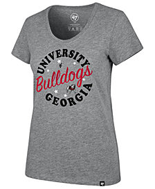 '47 Brand Women's Georgia Bulldogs Club Scoop Circle T-Shirt