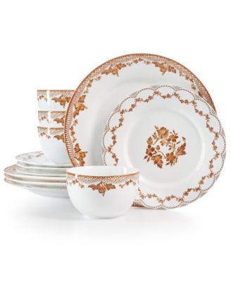 CLOSEOUT! Sepia 12-Pc. Dinnerware Set, Created for Macy's