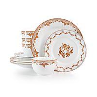 Deals on Martha Stewart Collection Sepia 12pc Dinnerware Set