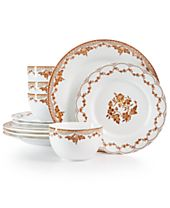 Martha Stewart Collection Sepia 12-Pc. Dinnerware Set, Created for Macy's