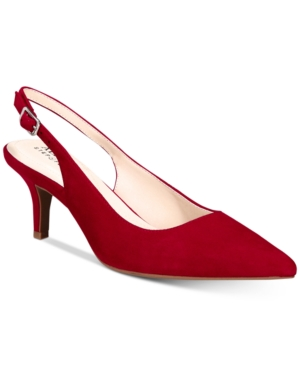 Image of Alfani Women's Step 'N Flex Babbsy Pointed-Toe Slingback Pumps, Created for Macy's Women's Shoes