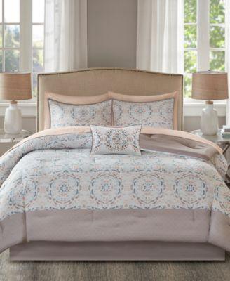 Voss Reversible 9-Pc. Queen Comforter Set