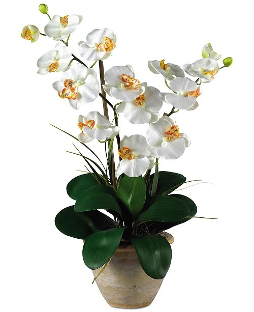 Nearly Natural Double Phalaenopsis Orchid Artificial Flower Arrangement