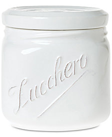 VIETRI Lastra Collection White Medium Canister