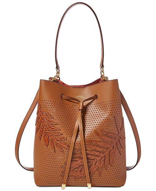 Lauran Ralph Lauren Dryden Debby Small Drawstring Bucket Bag ... f8bd7693cc897
