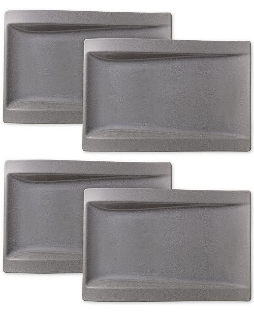Villeroy & Boch New Wave Stone Set of 4 Large Buffet Plates
