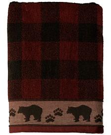 Sundance Cotton Plaid Jacquard Bath Towel