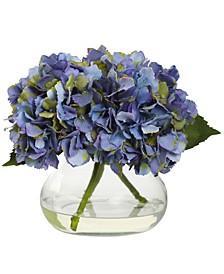 Blooming Hydrangea Artificial Arrangement in Vase