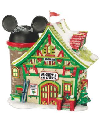 Mickey's Village Ski and Skate Collectible Figurine