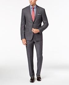 DKNY Men's Slim-Fit Gray Blue Tic Suit Separates
