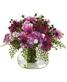 Nearly Natural Large Mixed Daisy Artificial Floral Arrangement